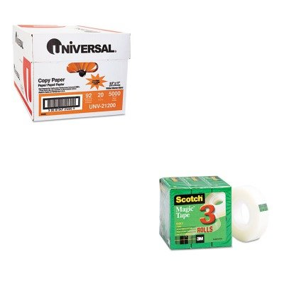 KITMMM810K3UNV21200 - Value Kit - Scotch Magic Tape Refill (MMM810K3) and Universal Copy Paper (UNV21200)