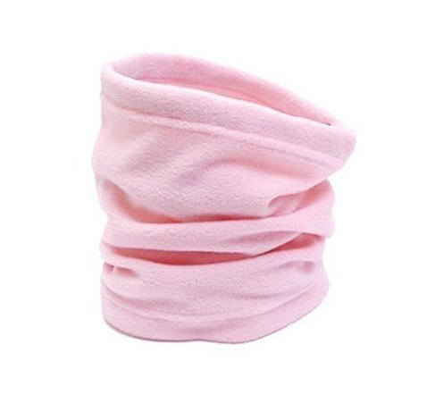 Neck Warmer Outdoor Fleece Scarf turtleneck collar men and women winter multifunctional headgear warm mask hat Pink