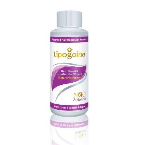 Lipogaine pour la femme: Minoxidil Renforcée avec la biotine et la vitamine pour la perte de cheveux éclaircie / traitement de repousse des cheveux Professionnellement Formulé Extra Fort Version