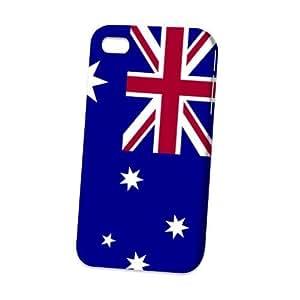 Case Fun Apple iPhone 4 / 4S Case - Vogue Version - 3D Full Wrap - Flag of Australia (World Cup)
