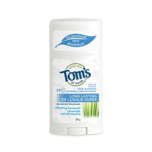 Tom's of Maine Long Lasting Deodorant,Refreshing Lemongrass, 2.25 Ounce, Pack of 6 ()