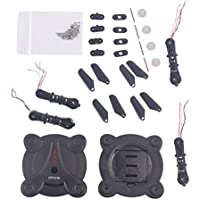 YouCute Spare Part Kit For FQ17W RC drone Rc Quadcopter black blade CW motor and CCW motor (Black Kit)