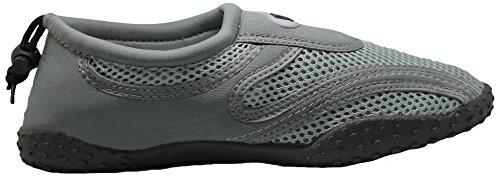 Greg Michaels Herren Wasserschuhe Aqua Socken - hohe Haltbarkeit, angenehm in Wasser und an der Oberfläche zu tragen Dunkelgrau / Grau