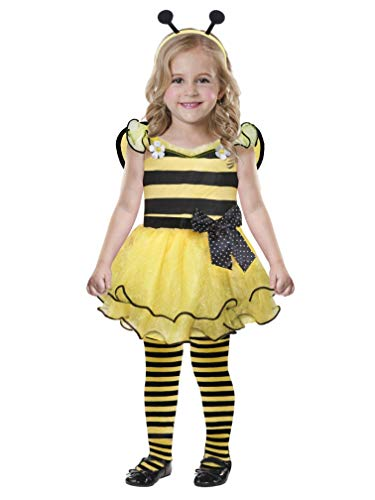 Toddler Girls Cute as Can Bee Costume with Dress Wings & Headband -