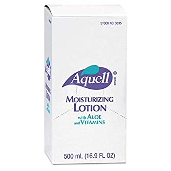 Image of AQUELL 800 Series Moisturizing Lotion, 500 mL Moisture Lotion Refill for 800 Series Bag-in-Box Push-Style Dispenser (Pack of 6) – 3838-06