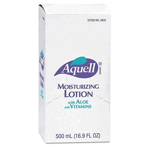 AQUELL 800 Series Moisturizing Lotion, 500 mL Moisture Lotion Refill for 800 Series Bag-in-Box Push-Style Dispenser (Pack of 6) - 3838-06