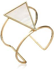 Panacea Mother-Of-Pearl Geo Cuff Bracelet
