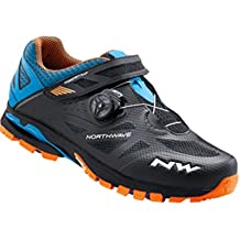 Northwave Man MTB All Mountain Shoes Spider Plus 2 Black/Green/Orange