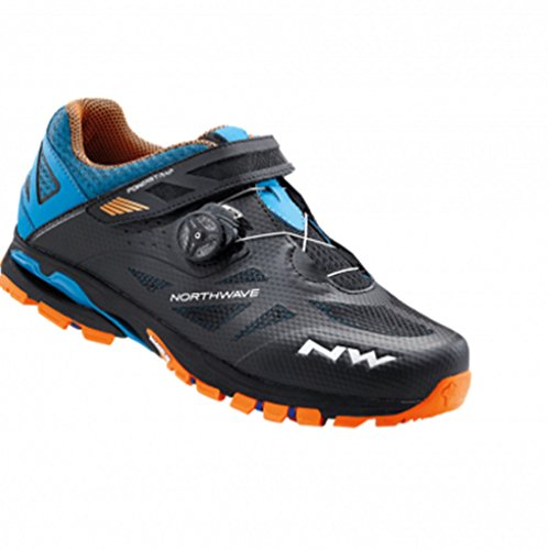 Northwave Man MTB All Mountain Schuhe Spider Plus 2 Schwarz / Grün / Orange