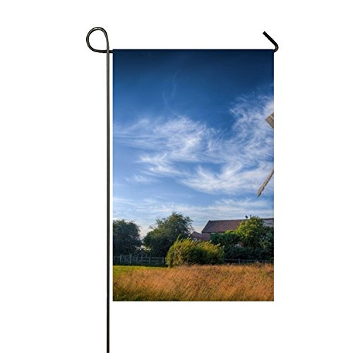 Windmill Photo Garden Flag Double-sided, Polyester, Yard Flag to Brighten Up Your Home