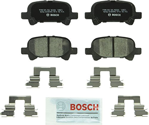 2003 Toyota Camry Brake - Bosch BC828 QuietCast Premium Ceramic Disc Brake Pad Set For Toyota: 2000-2007 Avalon, 2000-2006 Camry, 2000-2008 Solara; Rear
