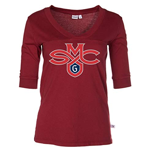 (Official NCAA Saint Mary's College Gaels - Women's 3/4 Sleeve Football V-Neck Tee)