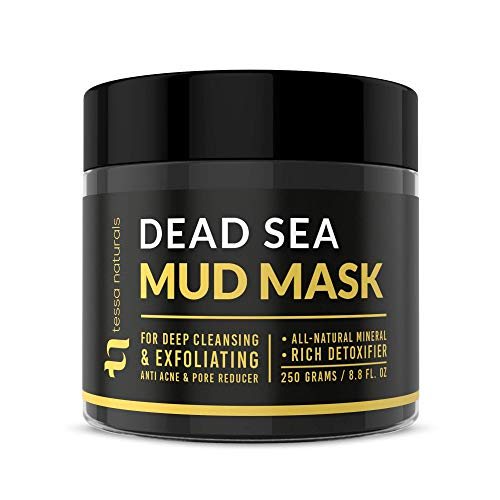 Dead Sea Mud Mask – Enhanced with Collagen – Reduces Blackheads, Pores, Acne, & Oily Skin – Visibly Healthier Face & Body Complexion – All Natural Anti-Aging Formula for Women & Men