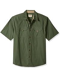 Wrangler Mens Authentics Men's Short Sleeve Canvas Shirt Shirt