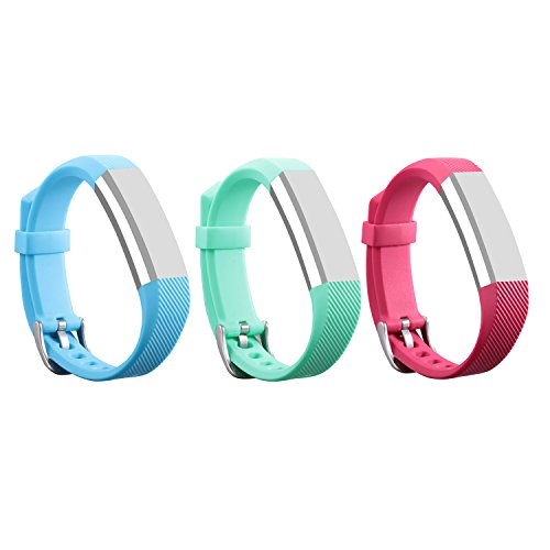 I-SMILE Bands for Fitbit Alta/ Fitbit Alta HR, 3PCS Newest Colorful Replacement Wristband With Secure Clasps for Fitbit Alta Only(No tracker, Replacement Bands Only)