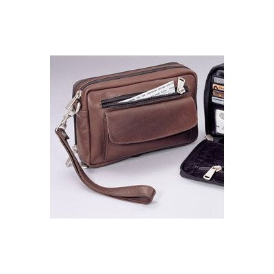 (Winn Harness Leather Travel Bag Brown)