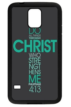 SeasonC-Bible-Philippians-Jesus-Christ-Christian-Cross-Quotes-Hard-Back-Case-Cover-for-Samsung-Galaxy-S5-i9600