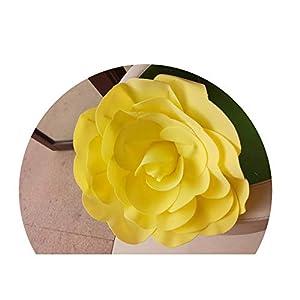 DraFenn Large Foam Fake Flowers Artificial Roses Wedding Flower Wall Wedding Window Background Layout,Yellow,40Cm 38