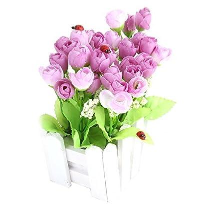 Amazon.com: DealMux Fabric Wedding Rose Buds Fence Holder ...