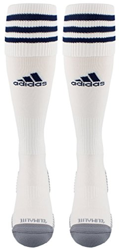 adidas Copa Zone Cushion III Soccer Socks (1-Pack), White/New Blue, Medium