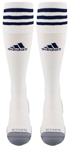 adidas Copa Zone Cushion III Soccer Socks (1-Pack), White/New Blue, Medium