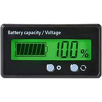 Battery Capacity Tester & Voltage Meter with LCD Display Backlit, Waterproof 12V 24V 36V 48V Lead Acid Battery Indicator…