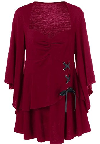 Pelle Taille Plus Mini Robe De Rouge Solide De Couleur Des Femmes Coolred Occasionnels
