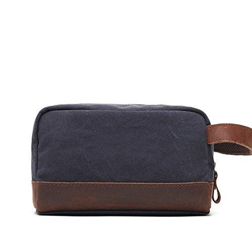 mefly estilo de verano estilo Retro bolso–bolsa de lona bolsa hombres equitación bolsa mensajero Retro, Army green Gris