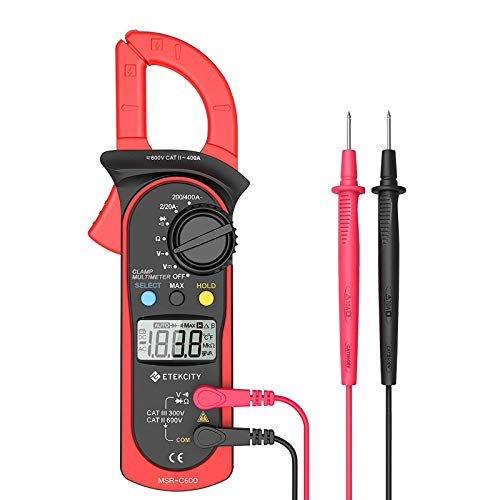 Etekcity Auto Ranging Clamp Meter, Digital Multimeter with Amp,Volt,Ohm,Diode and Resistance Test - Millivolt Power Generator