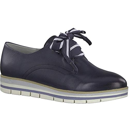 Shoe Navy Lace Leather 23209 Tozzi Marco Trainer Up CBwAx45Xq