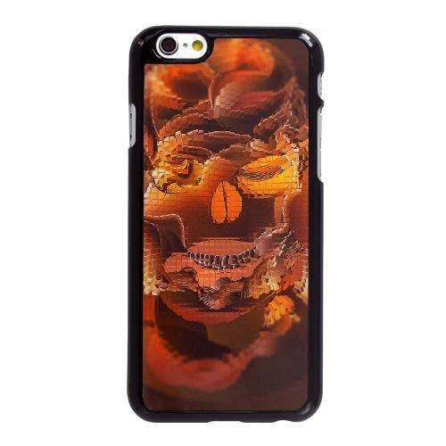 P1M25 crâne V3L5FK coque iPhone 6 Plus de 5,5 pouces cas de couverture de téléphone portable coque noire DJ3HJD4FM