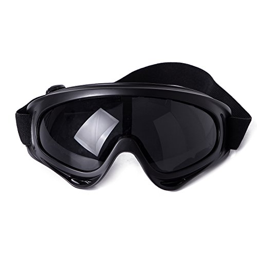 - HDE Ski Goggles Snow Glasses UV Protection Eyewear Scratch Resistant Lens for Outdoor Winter Sports Snowboarding (Black)
