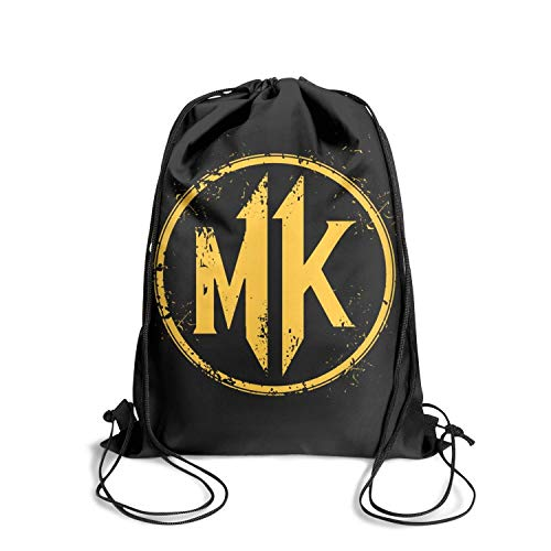 Price comparison product image Mortal-kombat-11-logo- Drawstring Backpack Adjustable Gym Sack Bag