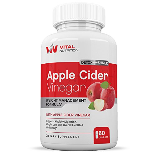 100  Apple Cider Vinegar Capsules 1300Mg    All Natural Weight Loss Supplement    Burns Fat   Curbs Food Cravings    Pure Organic Powerful Cleanser    Detox   Digestion Support    By Vital Nutrition
