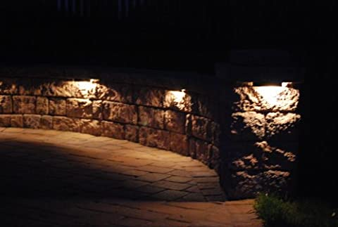 Stainless Steel Paver Wall Light - LED Black (Paver Fire Pit)
