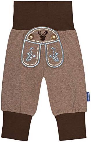 inkl Auto Sticker Baby Pumphose Jogginghose Babyhose in Lederhosen Stil Tracht mit sch/önen Stickereien