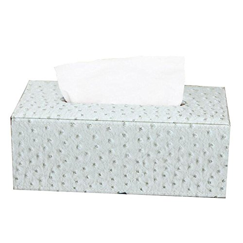 Upscale Leather Facial Tissue Box Cover Paper Napkin Box Dispenser for Home Office Car Decor , C by YANXH home