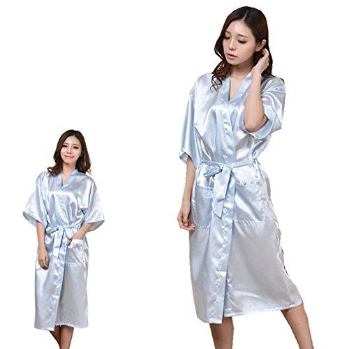 Pigiami XXXL Damigella Notte Vestaglie Stampa BOYANN Chiaro d'onore Caldo Camicie Kimono a e e Blu da 8dZRqxwq