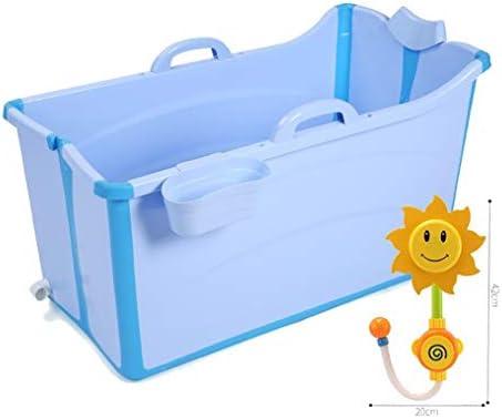 小さなシャワーキャビンのための大人のバスタブ肥厚バスタブの理想のためのポータブル折り畳み式のバスタブ (Color : Blue)