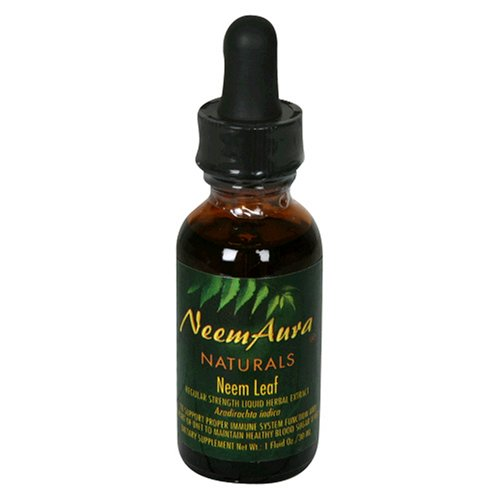 Neemaura Naturals Liquid Herbal Extract, Neem Leaf, Regular Strength, 1 fl oz (30 ml) (Pack of 2)