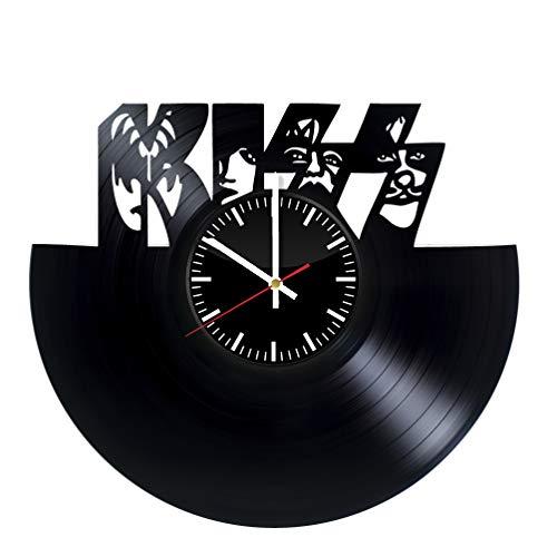 KISS Vinyl Record Wall Clock - Original Handmade Gift for KISS Rock Band Fans]()