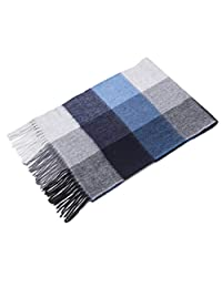 Cashmere Scarf Female Winter Korean Version of The Wild Plaid Wool Long Thick Scarf (Style : A)