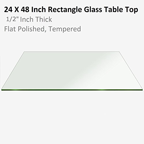 "Fab Glass & Mirror Rectangle Glass 1/2"" Thick Flat Edge Temp"