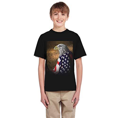 Women's 4Th of July Camo Tee American Flag Tank Tops Loose Shortsleeve America Eagle Tunic Patriotic USA T Shirts -