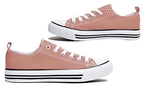 Women's Canvas Shoes Classic Low Top Sneaker Fashion Basketball Tennis Athletic Cap Toe -