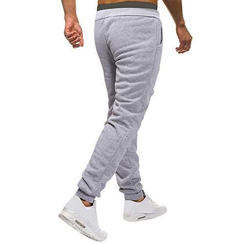 Sport Gris Coton Slim Pantalon Jogging Pants Homme Fit Jeans Cargo Casual Chino gCYFgqSPw