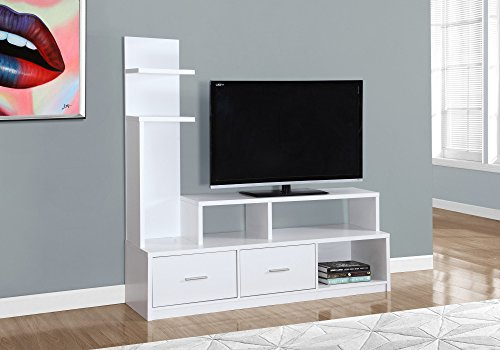 Monarch Specialties I 2697 A Display Tower TV Stand