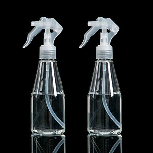 2pcs Spray Bottles 200ml Plastic Trigger Sprayer Fine Empty Mist Spray Bottle for Cleaning Beauty Treatments Garden