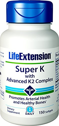 Life Extension Super K with Advanced K2 Complex Softgels, 150 Count