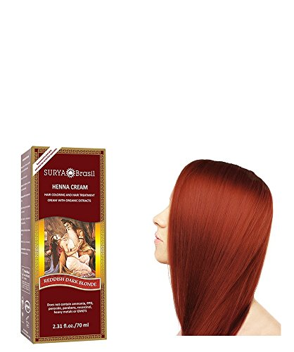 Henna Reddish Dark Blonde Cream Surya Nature, Inc 2.31 oz Cream